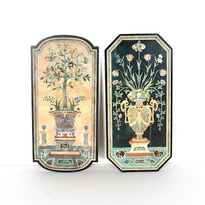 Pair of Art Deco Style Wooden Wall Panels
