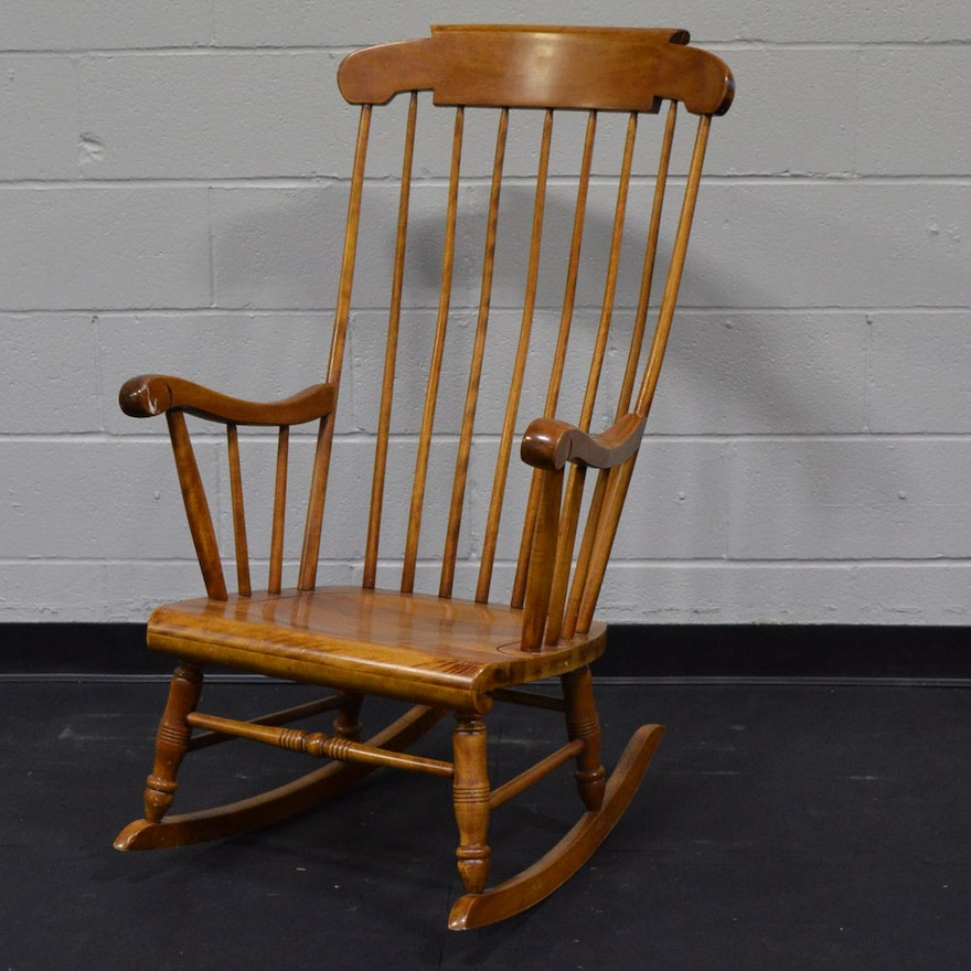Vintage Maple Rocking Chair by S. Bent and Bros ... - Vintage Maple Rocking Chair By S. Bent And Bros : EBTH