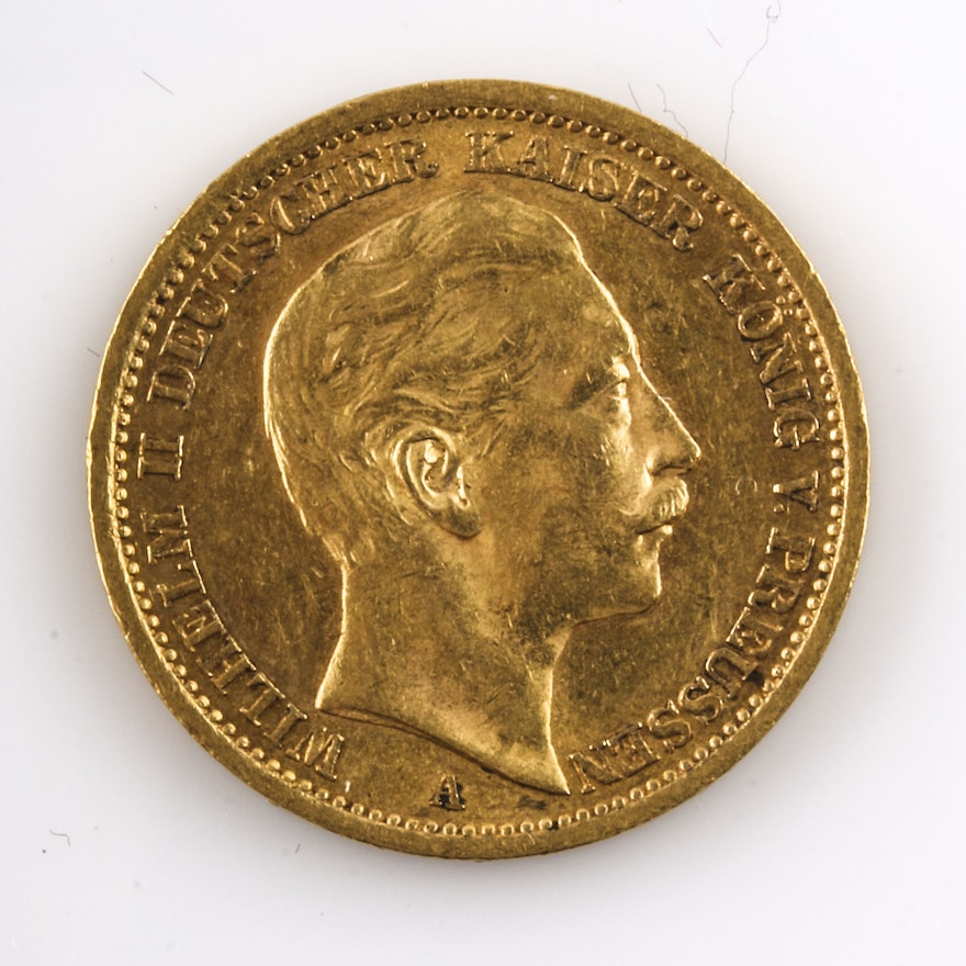 1906 A Prussian Twenty Mark Gold Coin