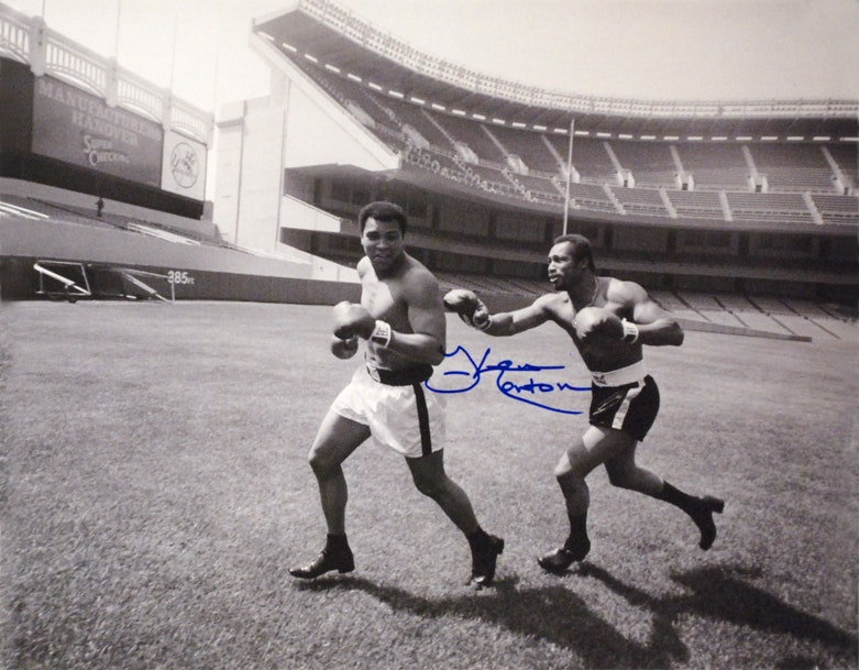 """Ken Norton and Ali, Yankee Stadium"" Autographed Commemorative Photograph"