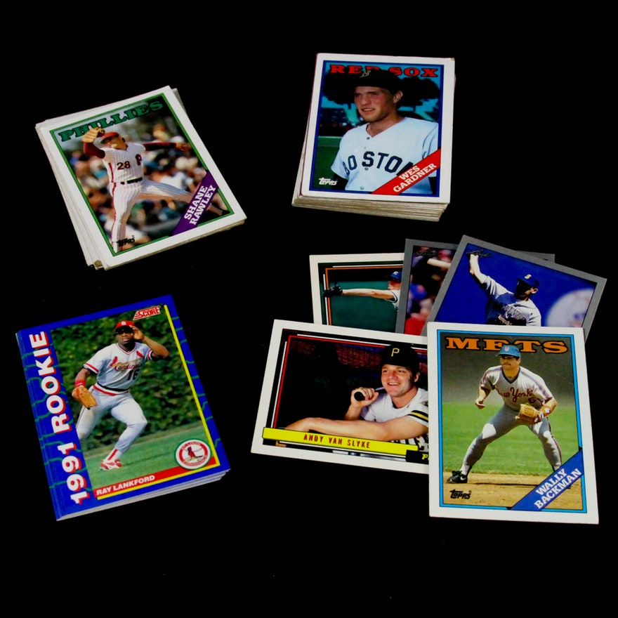 Baseball Cards Featuring 1991 Ray Lankford Rookie Card
