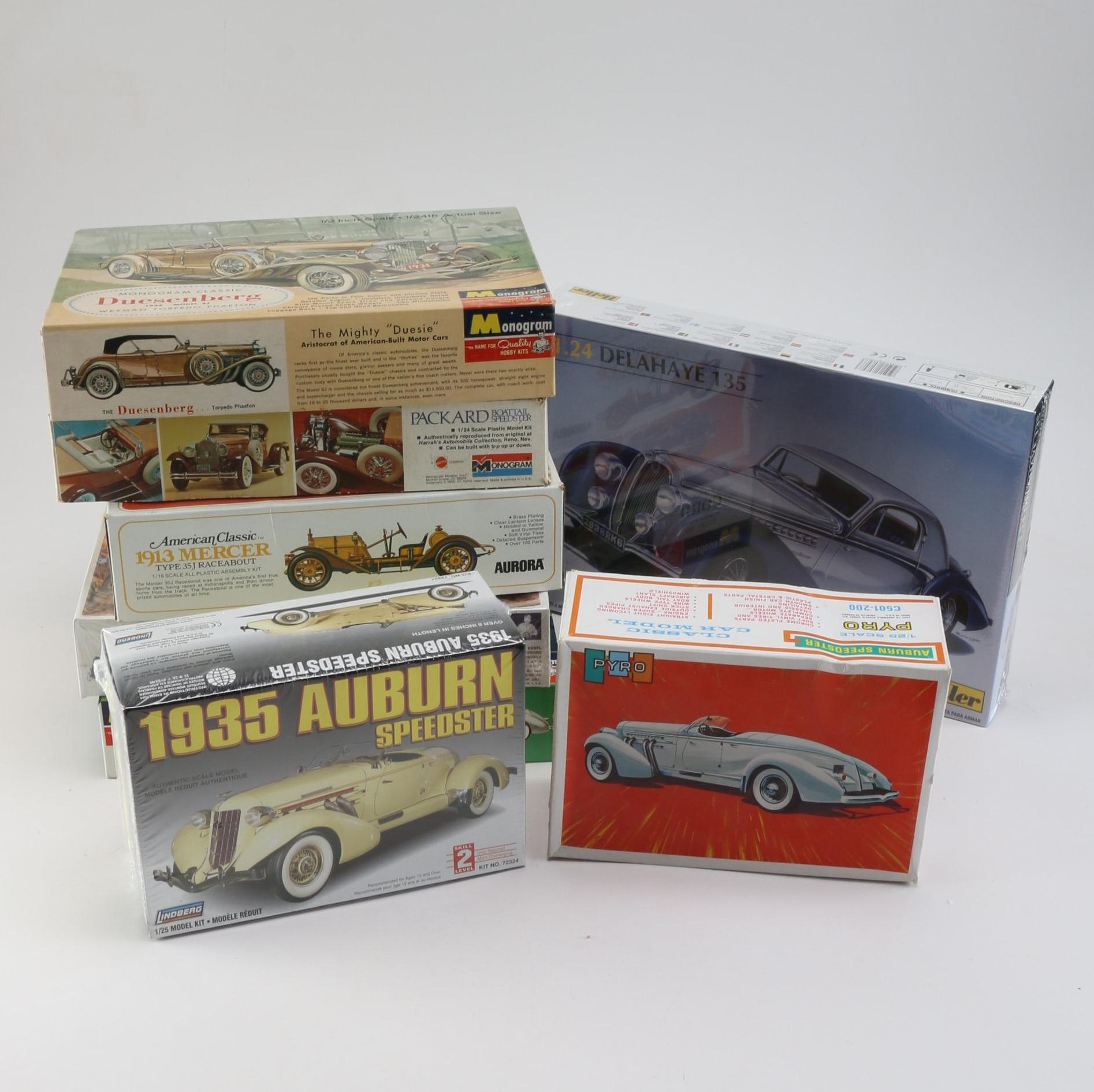 Early to Mid-20th Century Roadster Model Car Kits