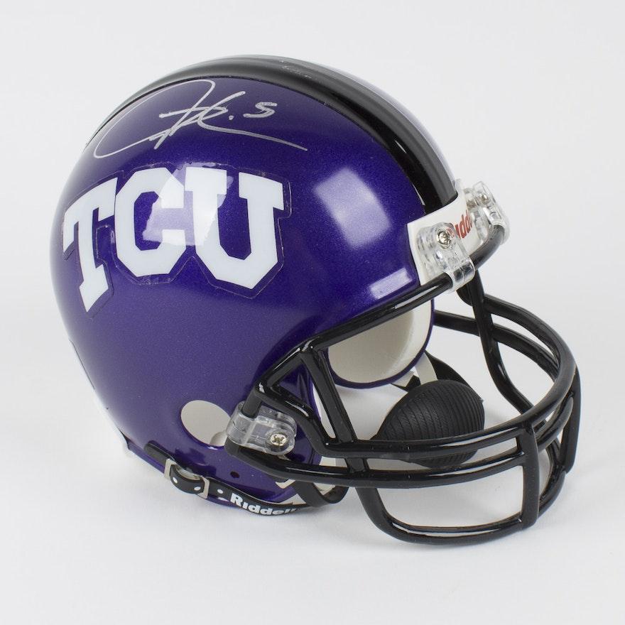 sports shoes 9f128 f4f12 Ladainian Tomlinson Signed TCU Mini Helmet