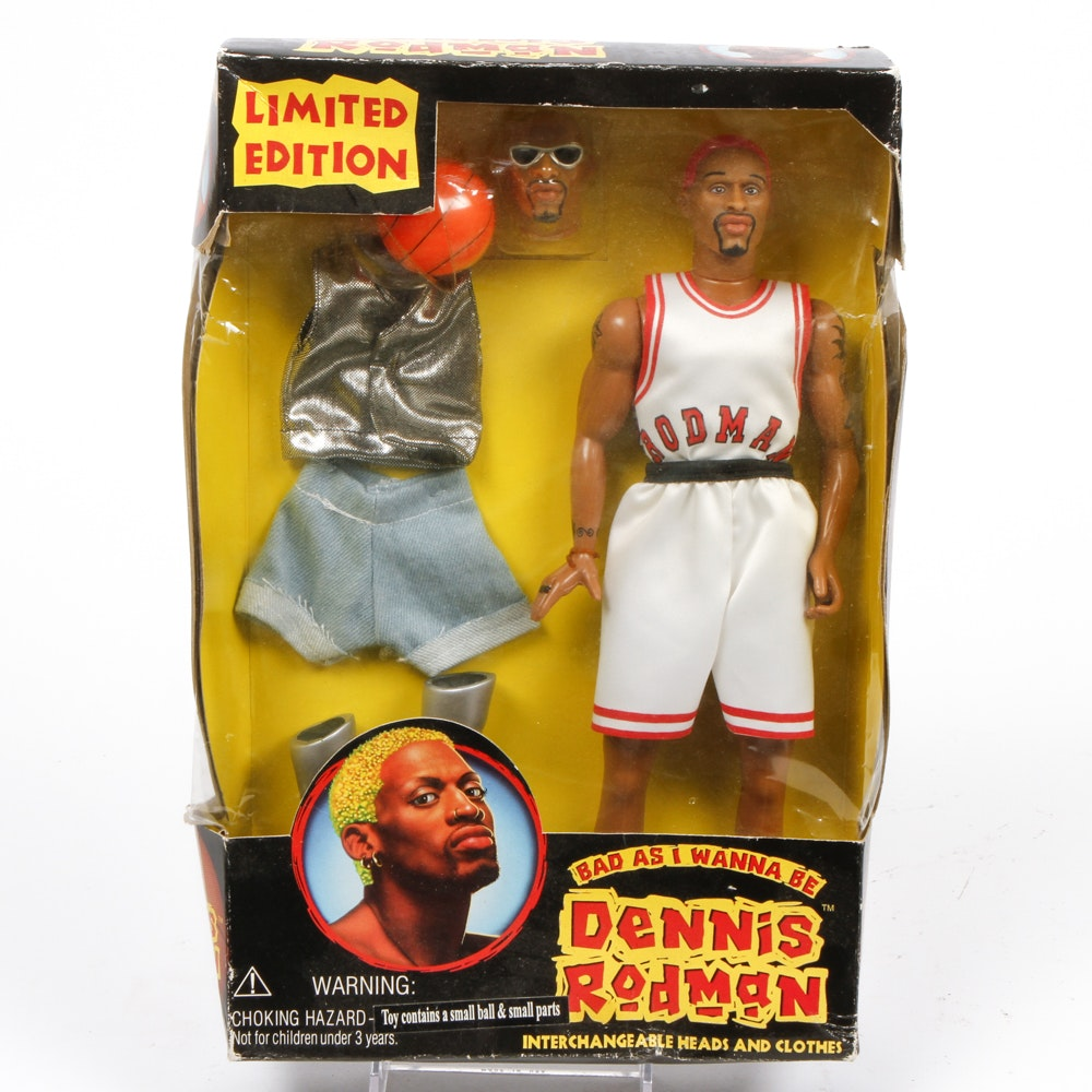 "Dennis Rodman ""Bad As I Wanna Be"" Limited Edition Figure in Original Box"