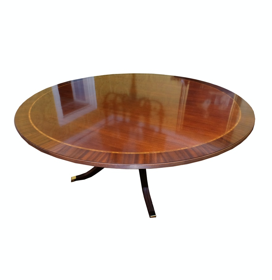 Inlaid Dining Table Large Inlaid Dining Table Ebth