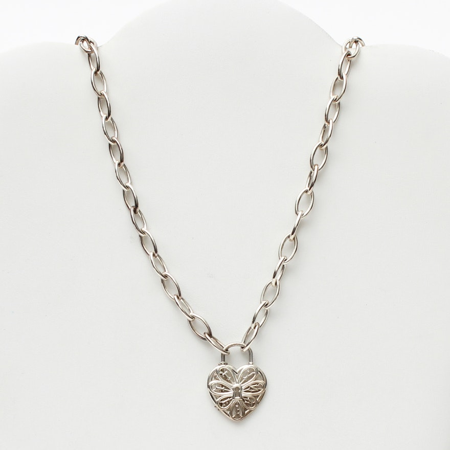 1d4952aa9 Tiffany & Co. Sterling Silver Heart Lock Necklace | EBTH