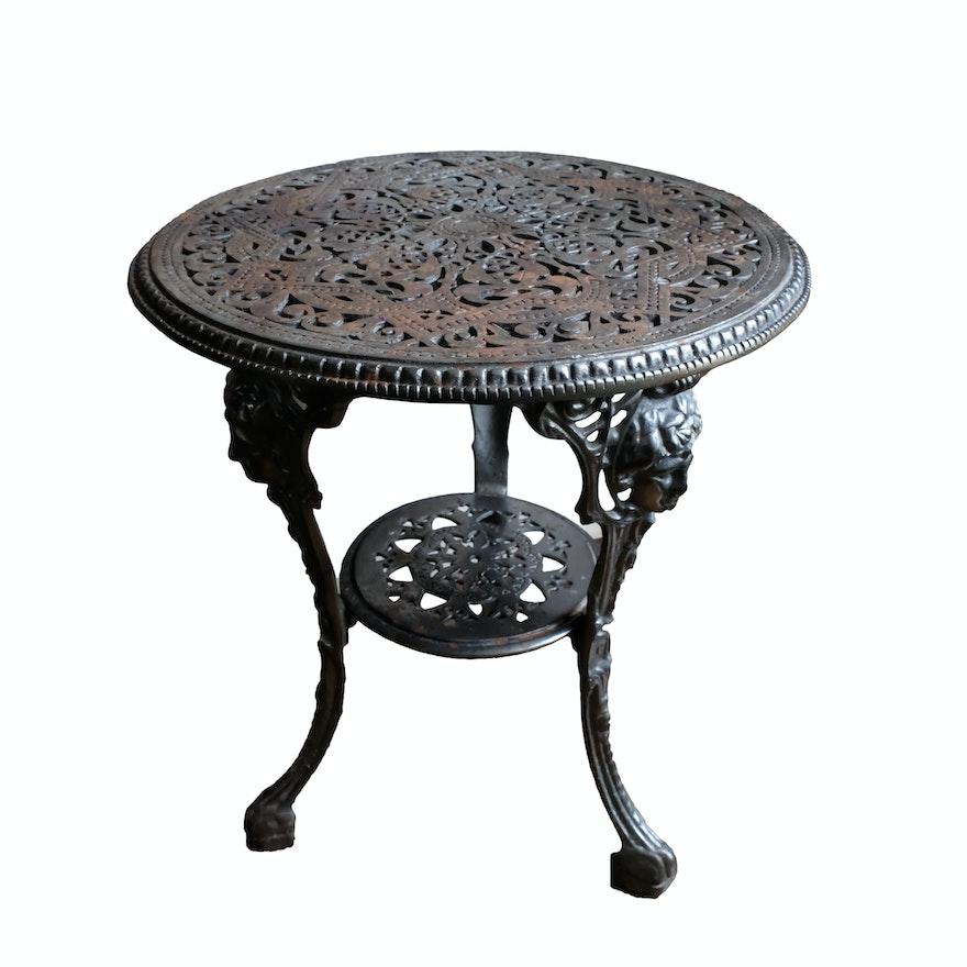 Outdoor Victorian Table: Victorian Style Cast Iron Garden Table