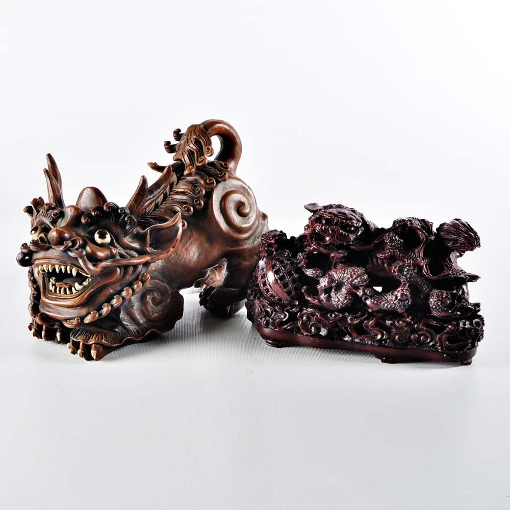 Chinese Guardian Lion Figures