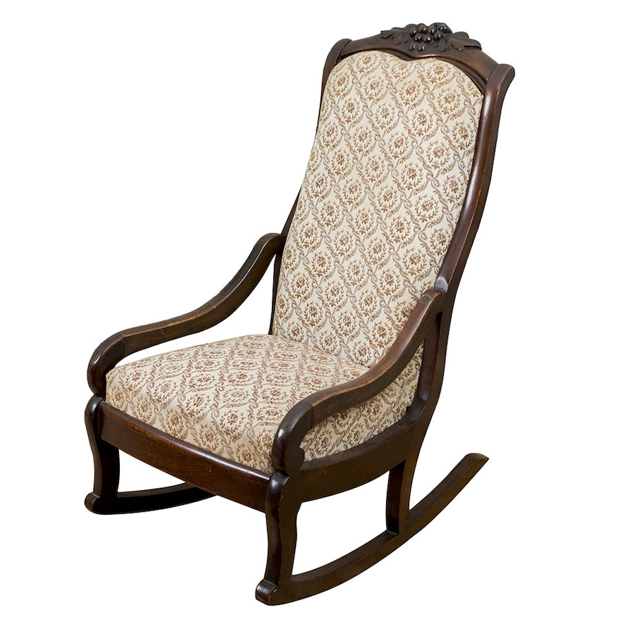 Victorian rocking chair - Vintage Victorian Style Rocking Chair