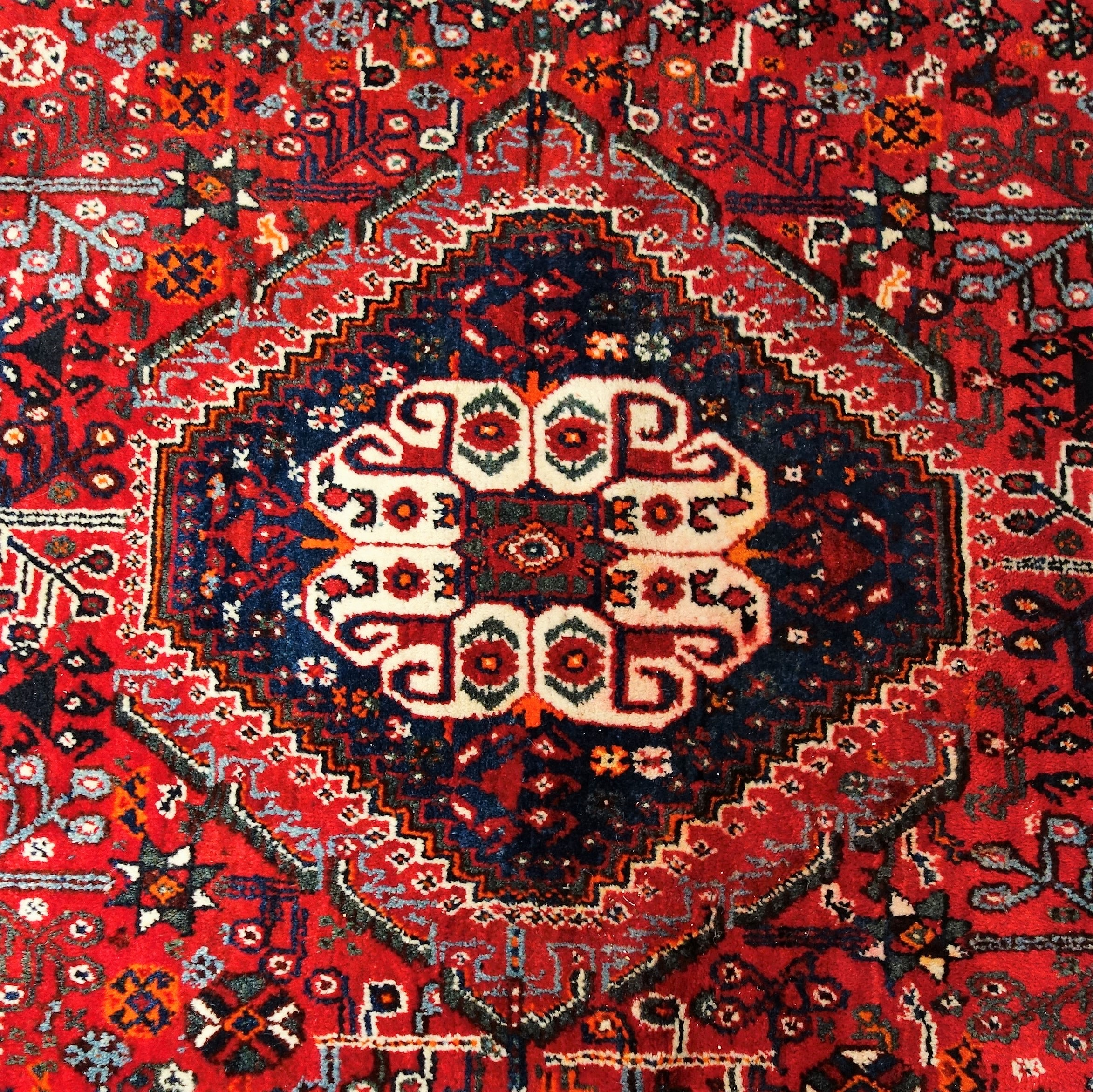 Authentic Hand-Knotted Wool Persian Area Rug From Iran