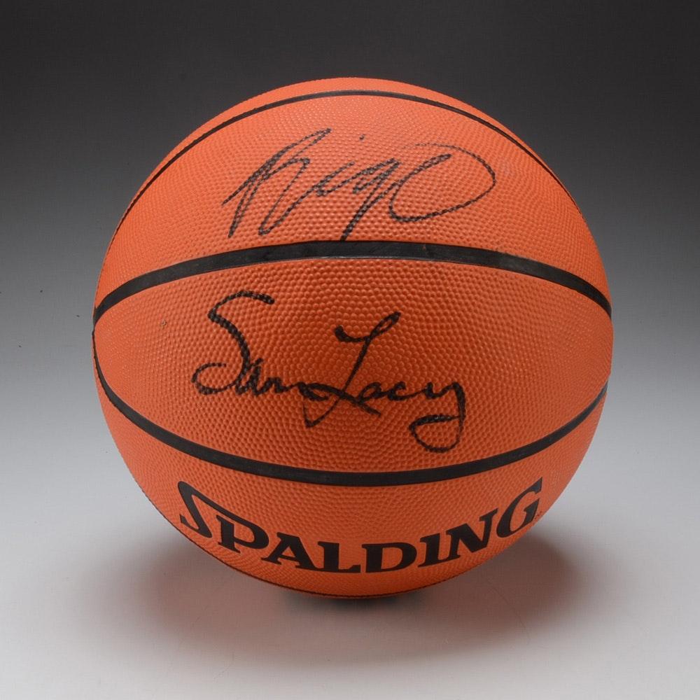 Oscar Robertson Sam Lacey and Otis Birdsong Signed Basketball COA