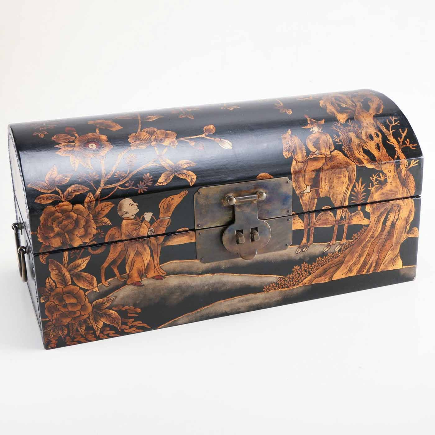 Chinoiserie Painted Wood Chest