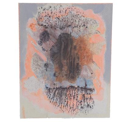 "Ricardo Morin Oil Painting on Linen Affixed to Board ""Still Eight"""