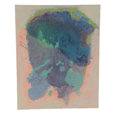 "Ricardo Morin Oil Painting on Linen Affixed to Board ""Still Nine"""