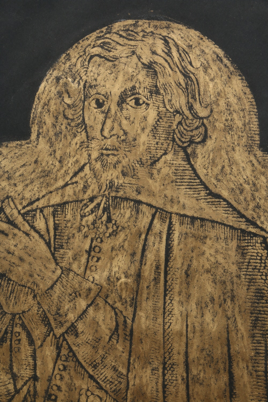 Framed Brass Rubbing Of An Effigy Of Robert Chambers Ebth
