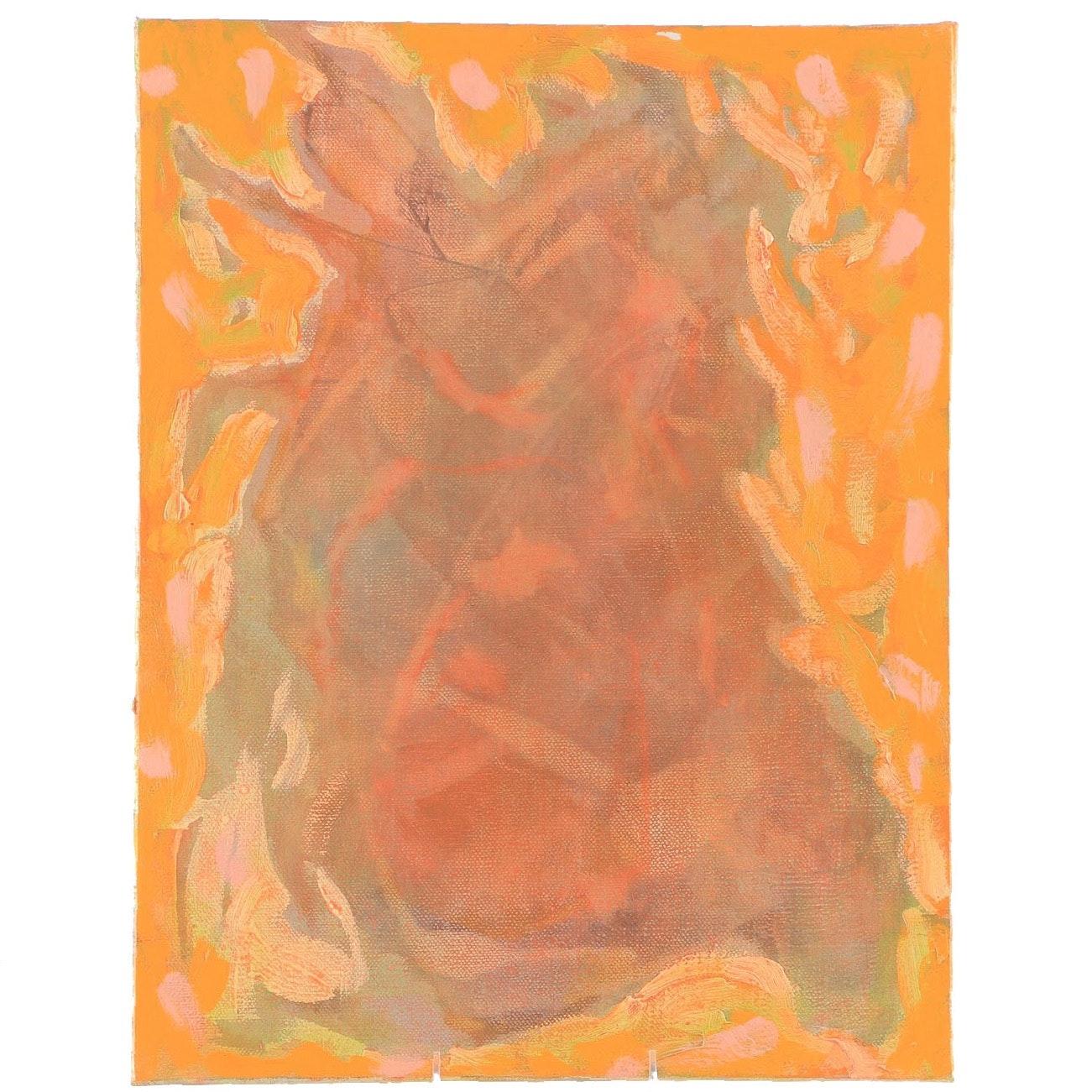 "Ricardo Morin Oil Painting on Linen ""Still Sixteen"""