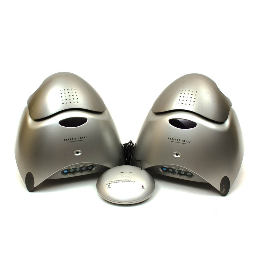 Sharper Image Wireless Outdoor Speakers Ebth