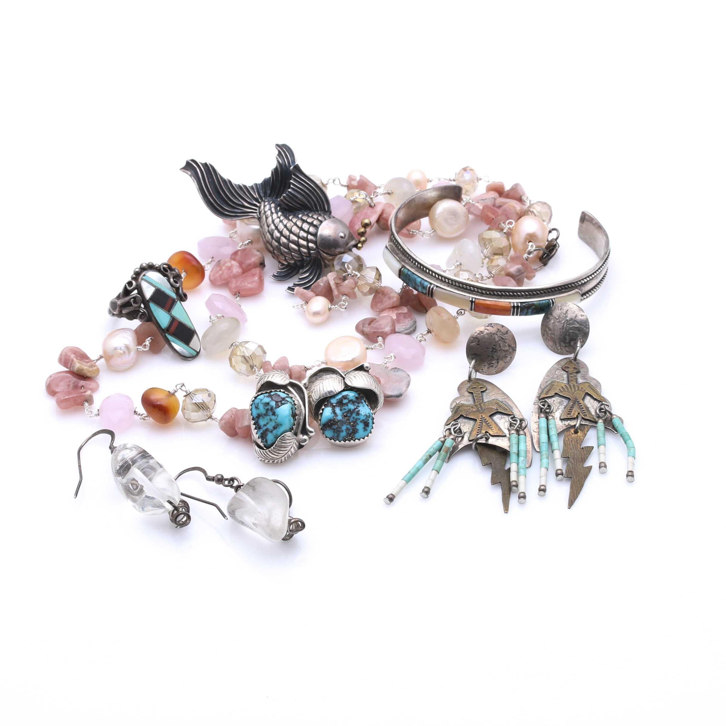 Sterling Silver Gemstone Jewelry Assortment