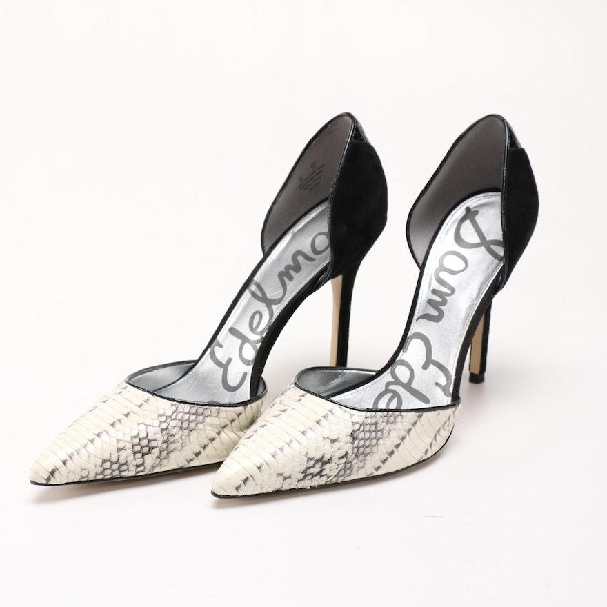 0344f1253 Sam Edelman Delilah Snake Skin Heels Size 9   EBTH