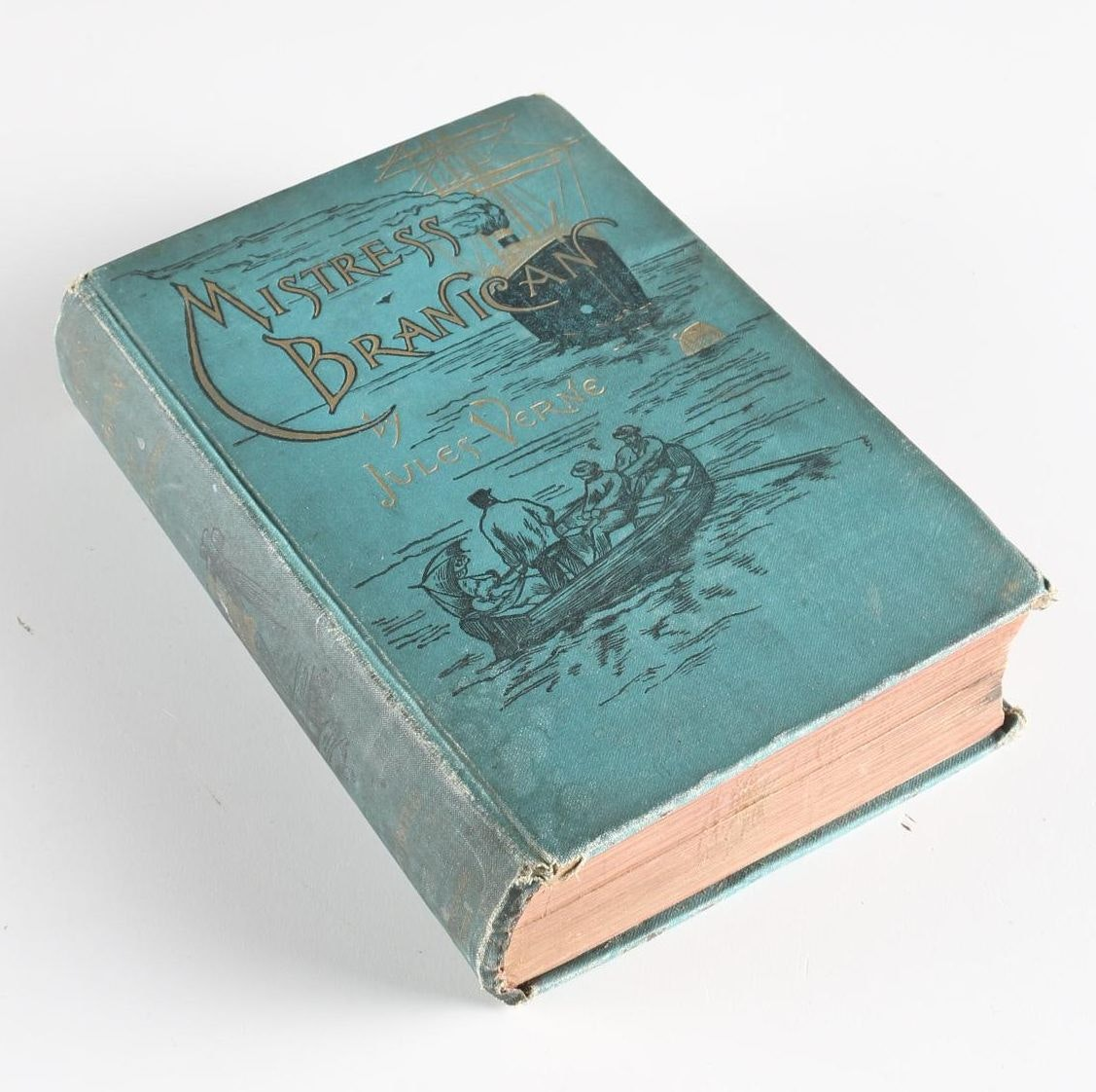 """1891 First American Edition of """"Mistress Branican"""" by Jules Verne"""