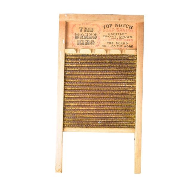 Vintage Wooden Washboard