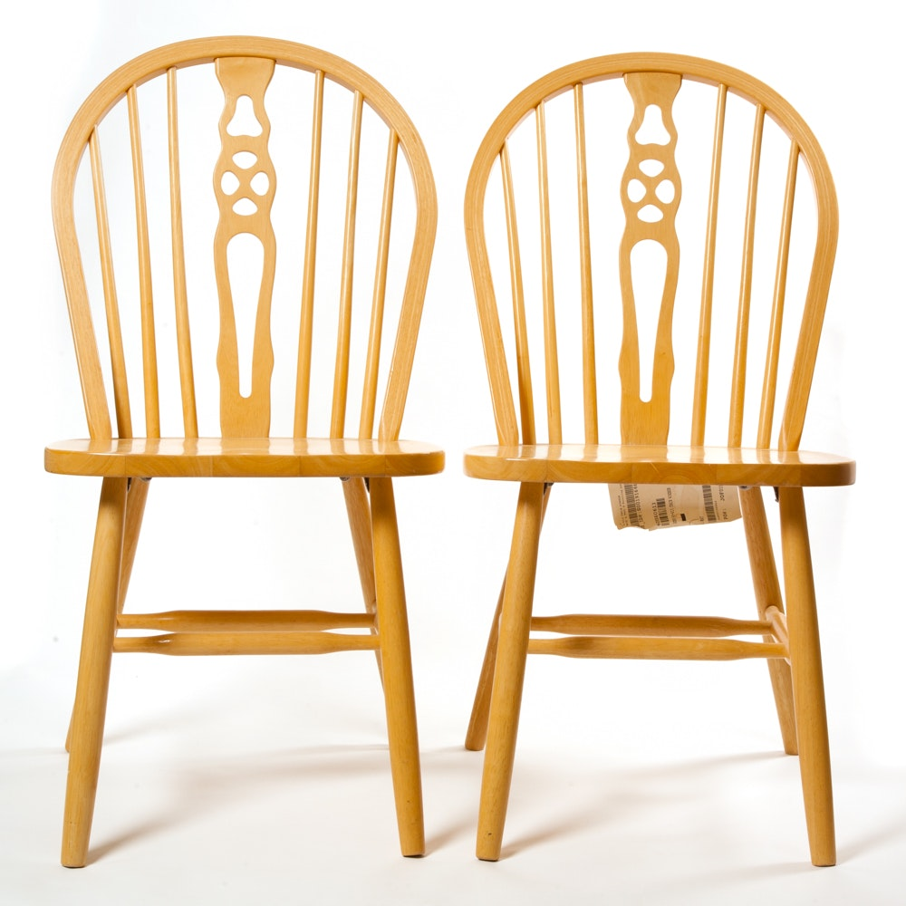 Pair of Contemporary Windsor Chairs