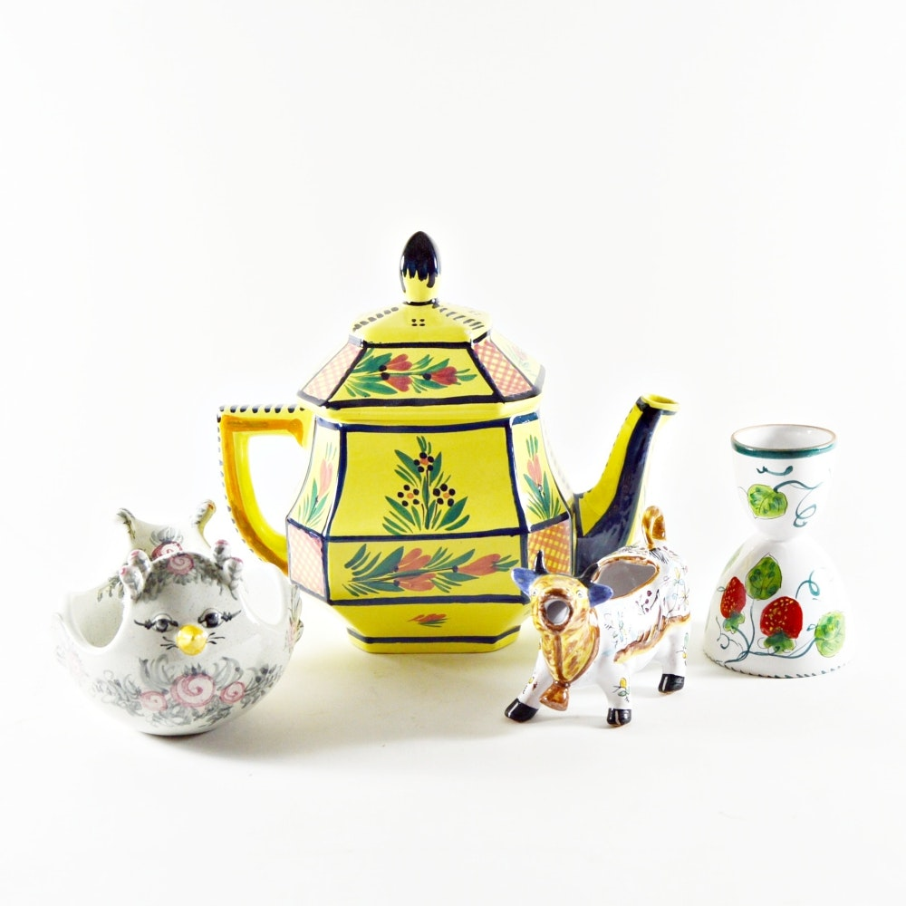 Collection of European Ceramic Kitchen Items