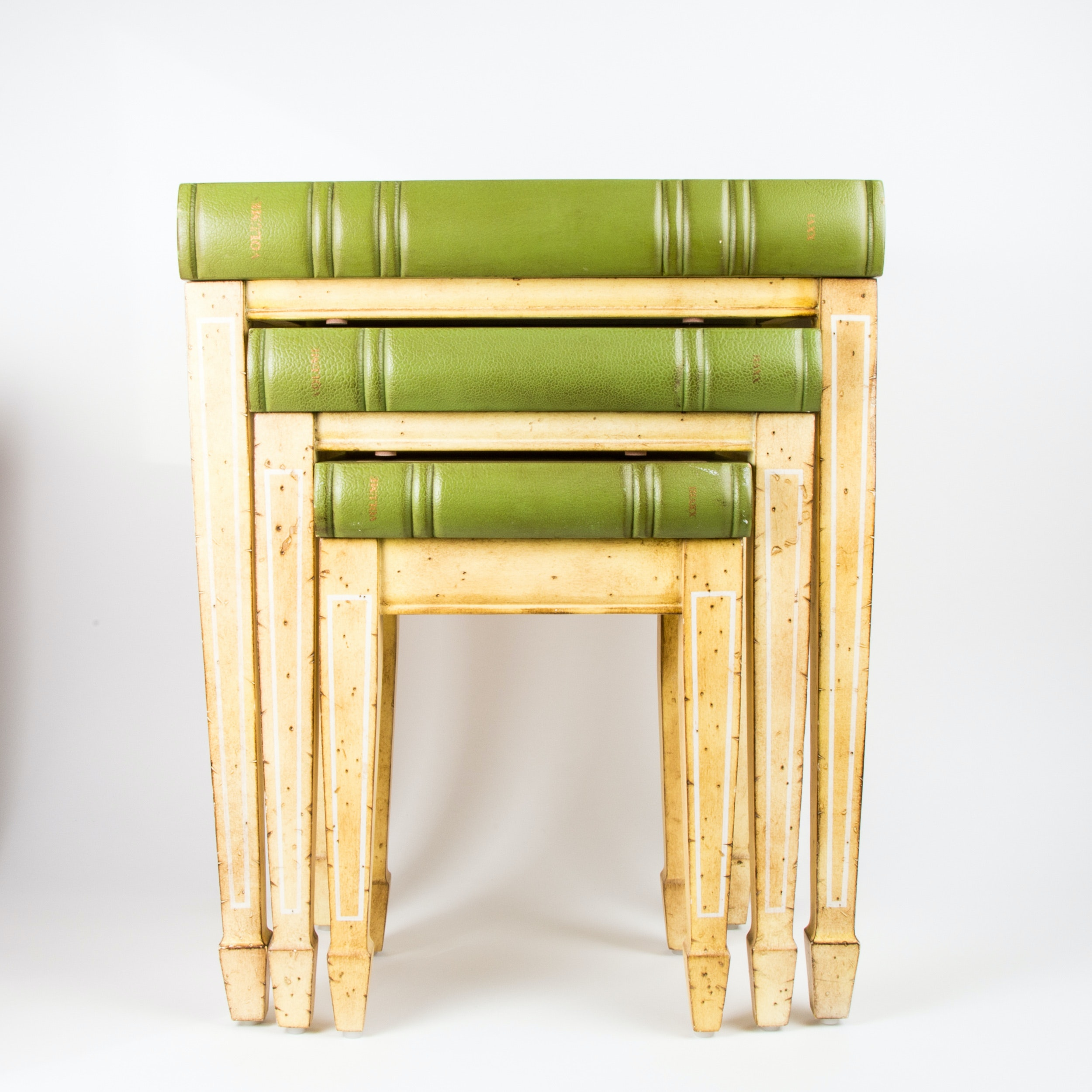 Botanical Book Top Nesting Tables