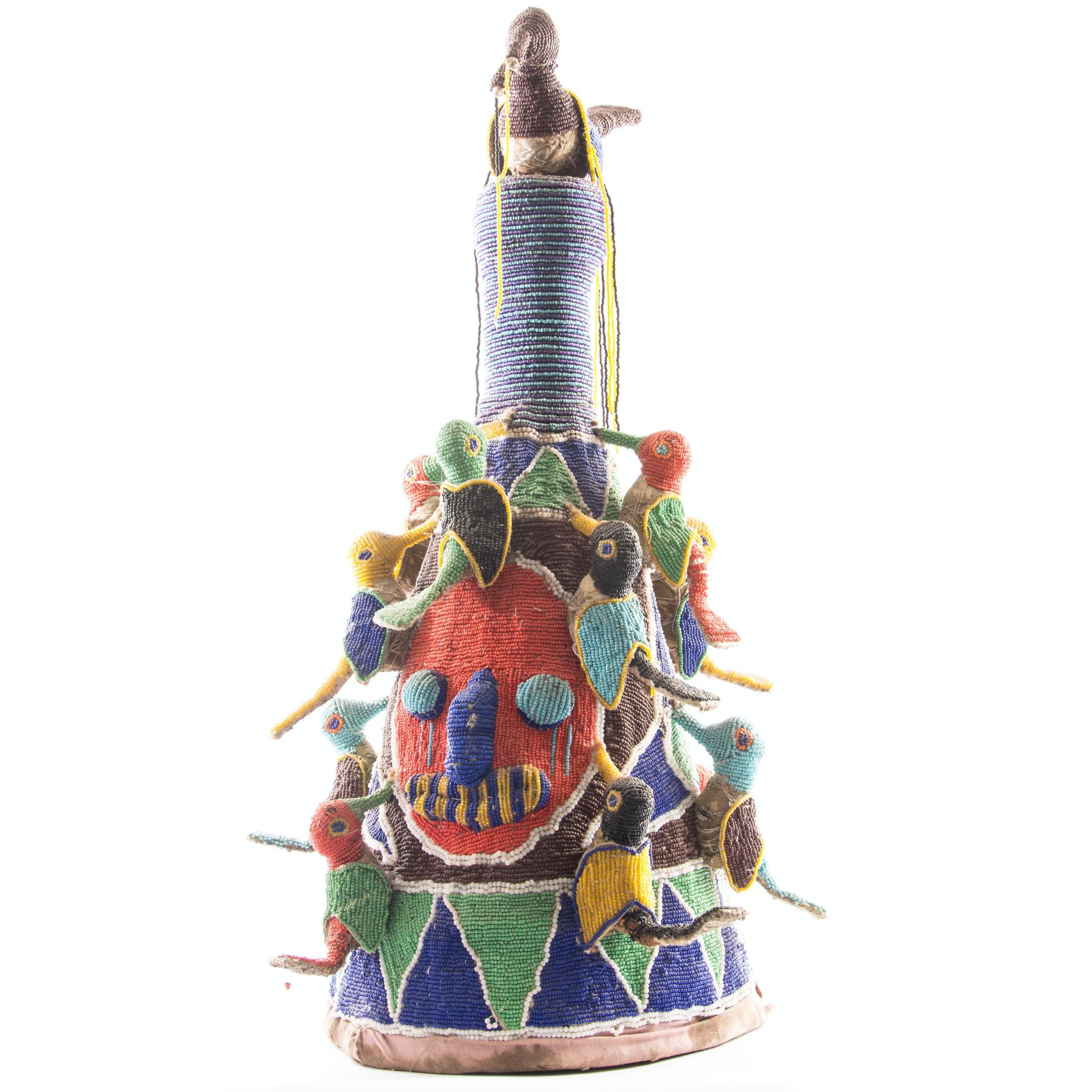 West African Beaded Yoruba Crown