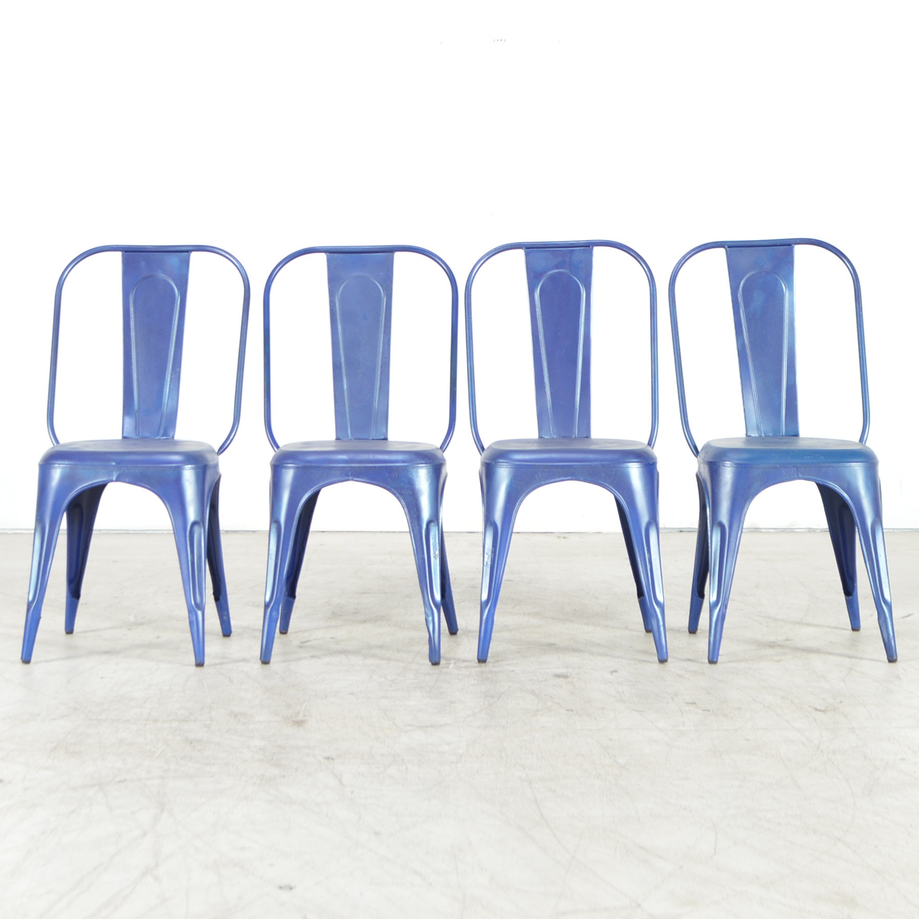 Blue Painted Aluminum Chairs
