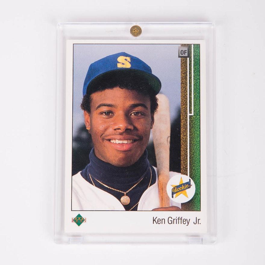 86f3dfa320 1989 Upper Deck #1 Ken Griffey Jr. Rookie Card : EBTH