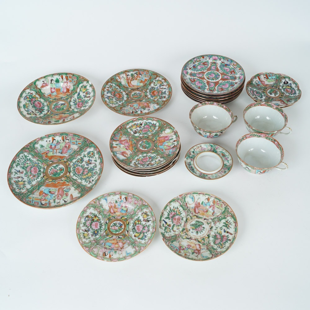 Collection of Chinese Rose Medallion Porcelain