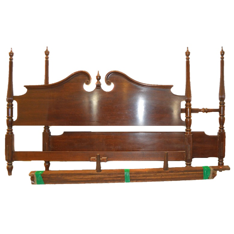 Queen anne or federal style ethan allen bed frame ebth for Queen anne style bed