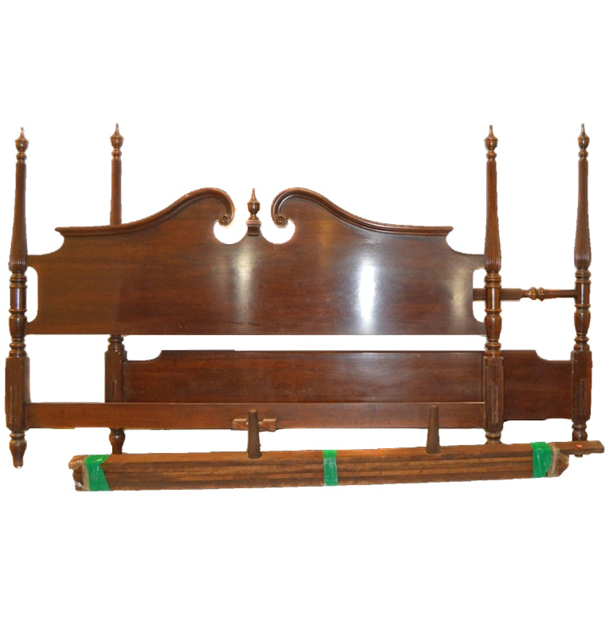 Queen anne or federal style ethan allen bed frame ebth - Ethan allen queen beds ...