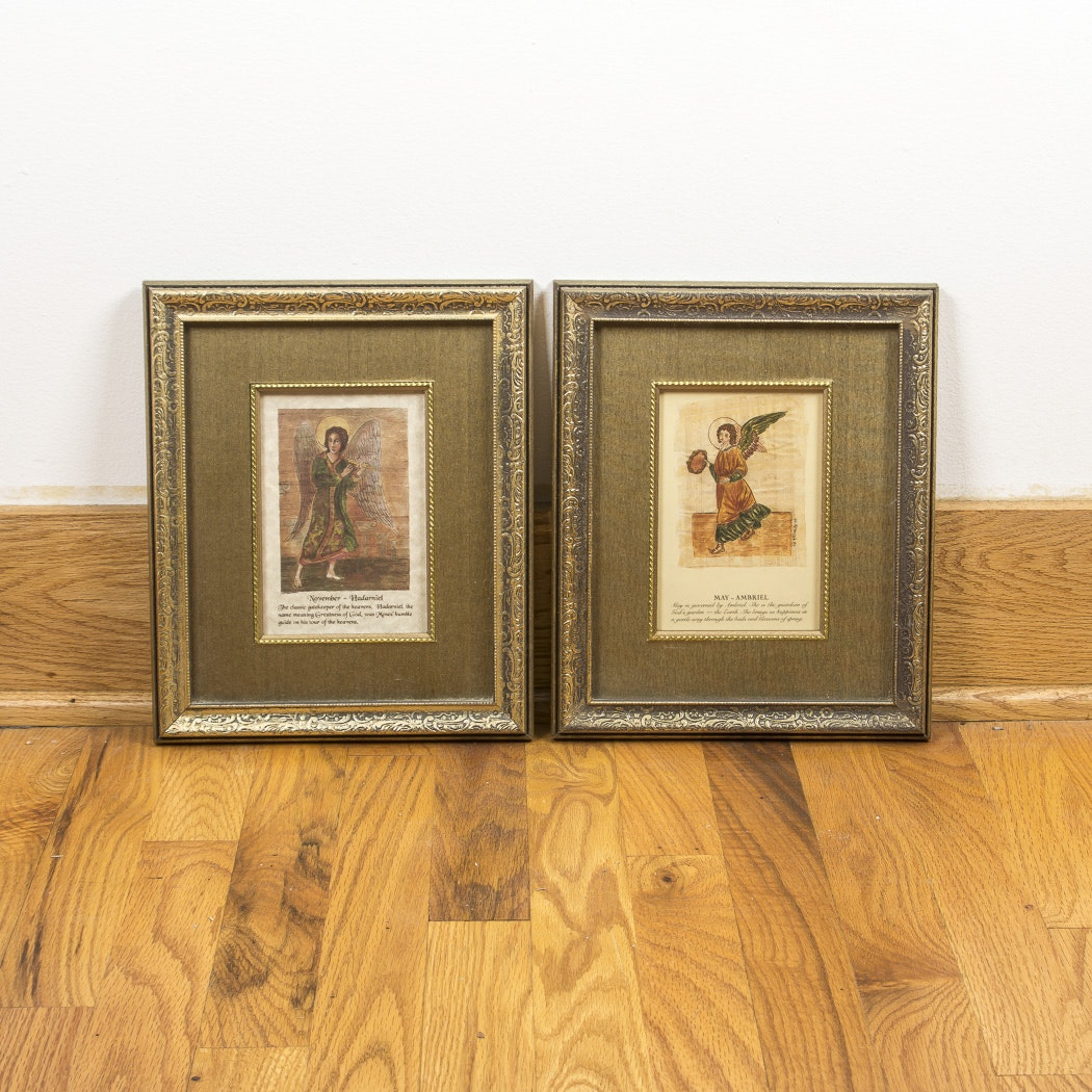 Pair of Angel Offset Lithographs