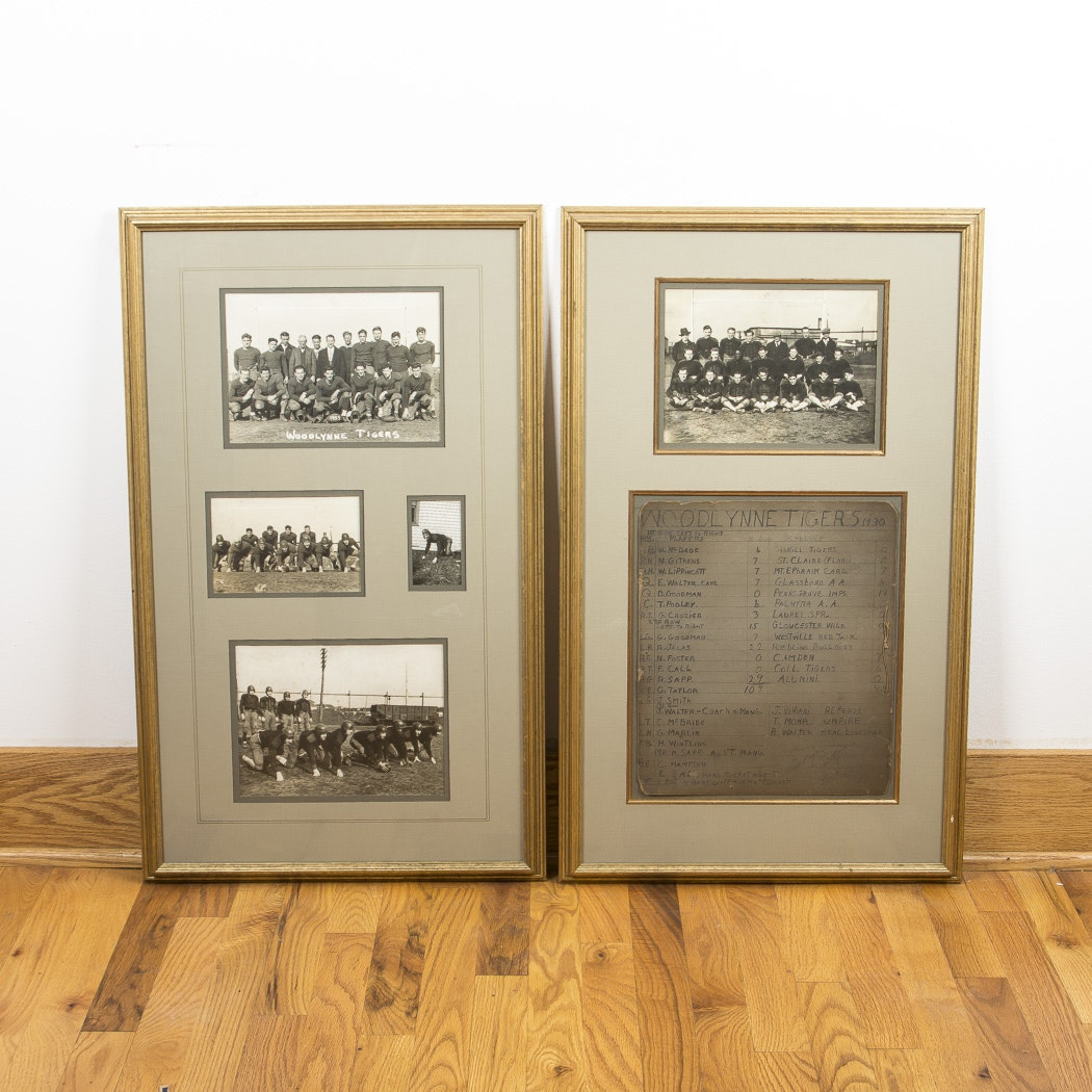 Vintage 1930s Woodlynne Tigers Framed Prints