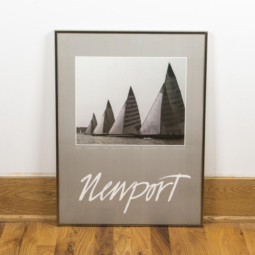 """Offset Lithograph """"Newport"""""""