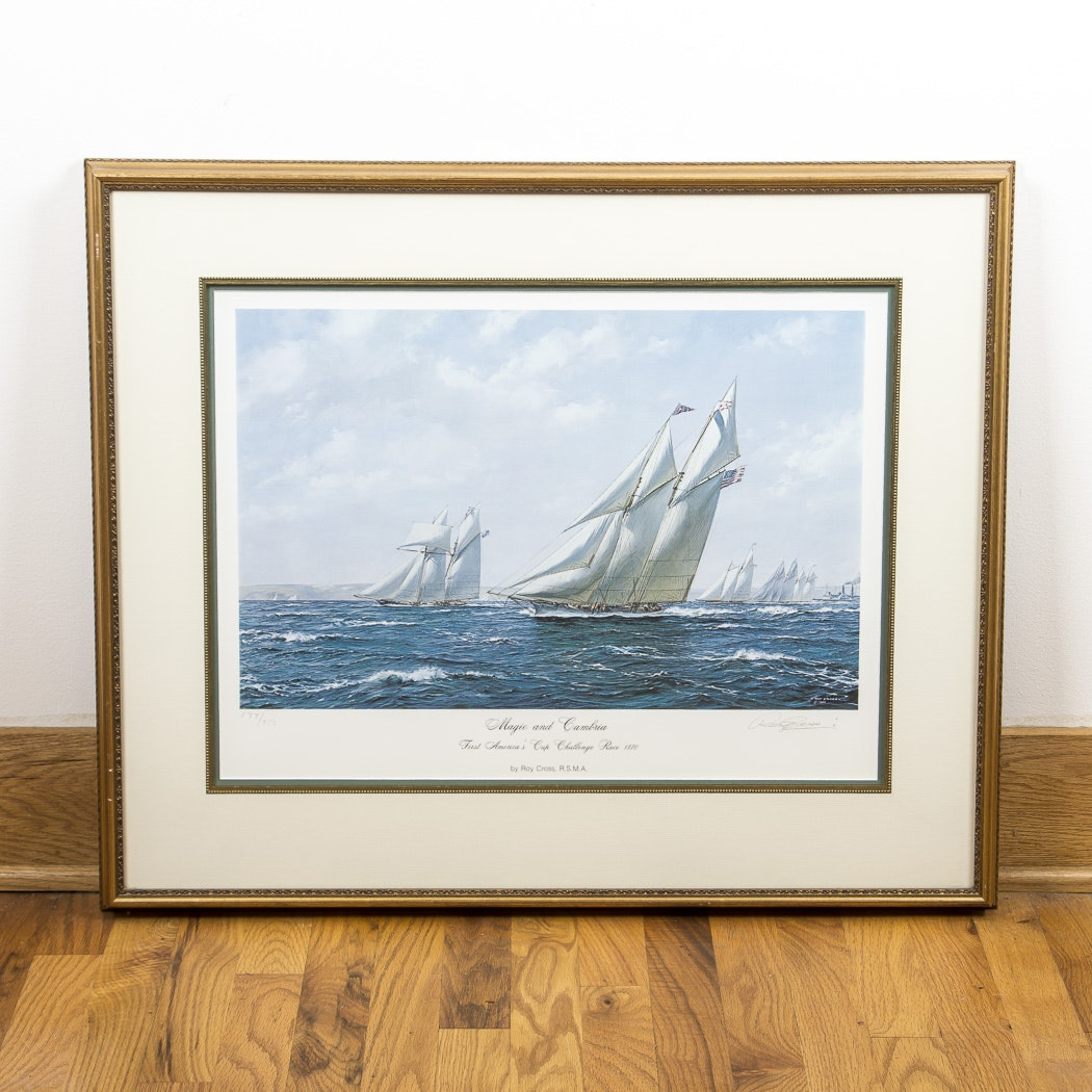 "Roy Cross Offset Lithograph ""Magic and Cambria"""