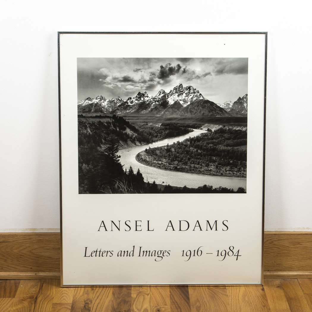 "Vintage Ansel Adams Poster ""Letters and Images 1916-1984"""