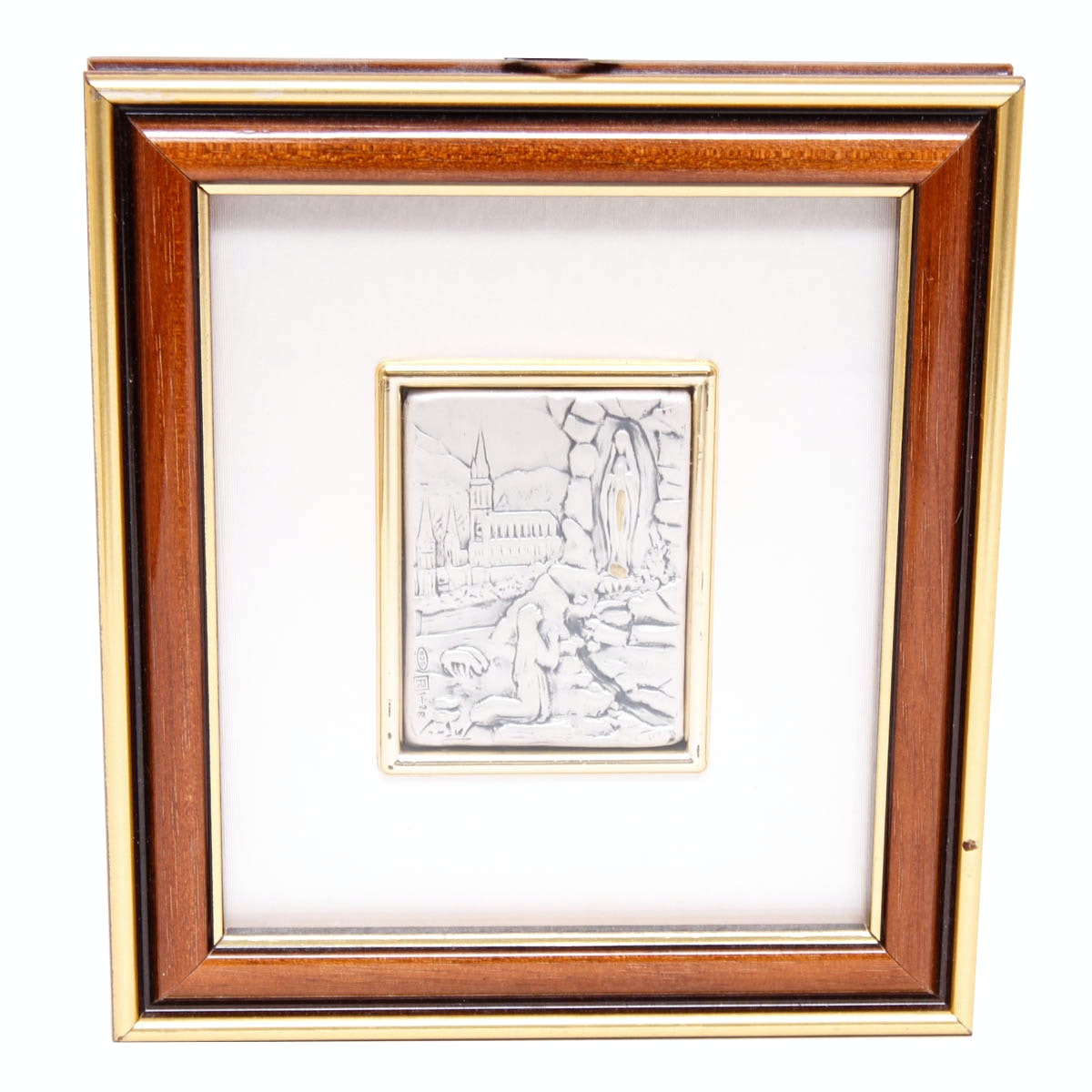 Small Framed Sterling Silver Plate