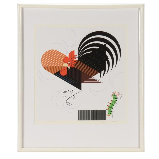 "Charley Harper Signed Limited Edition Serigraph ""Crawling Tall"""