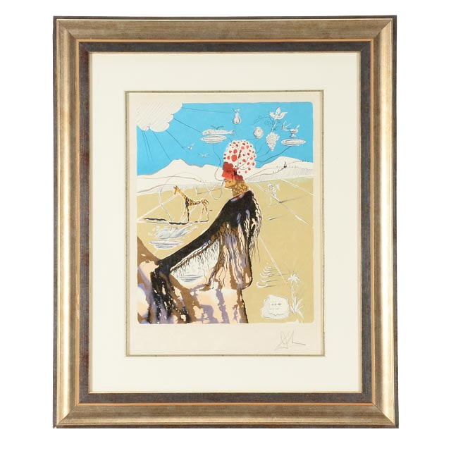 "Salvador Dalí Limited Edition Lithograph ""The Earth Goddess"""