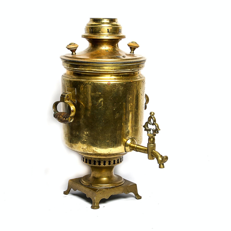 Vintage Brass Samovar Urn