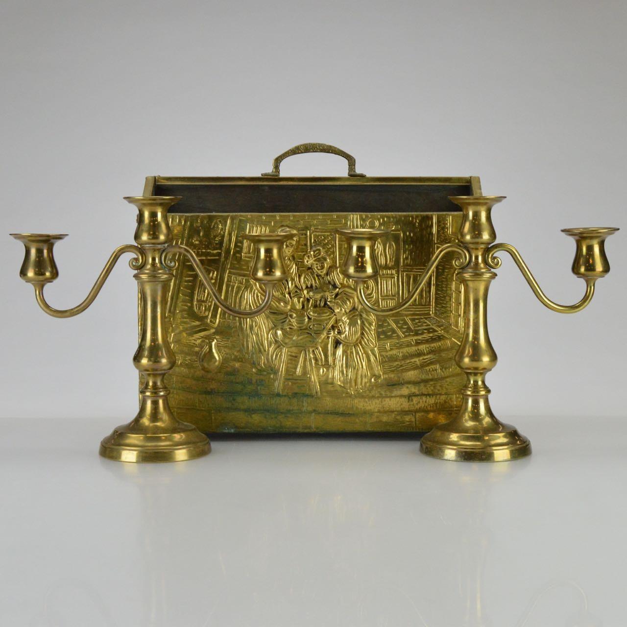 Brass Hearth and Mantel Decor