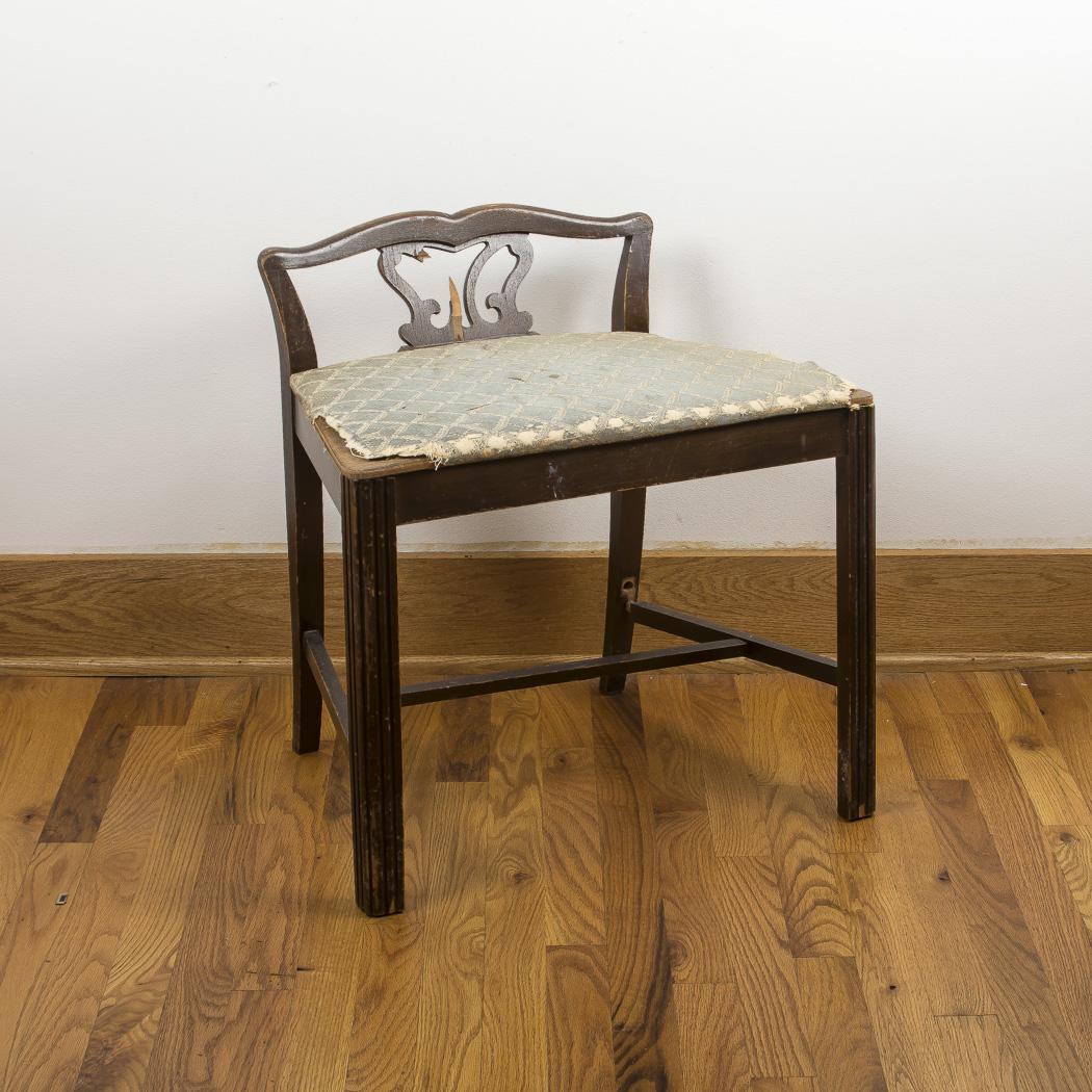 low back vanity chair  Vintage Low-Back Vanity Chair : EBTH