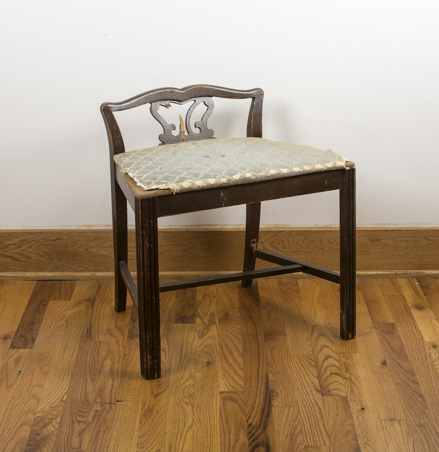 Stunning Vanity Chair With Low Back Contemporary - Best image 3D ...