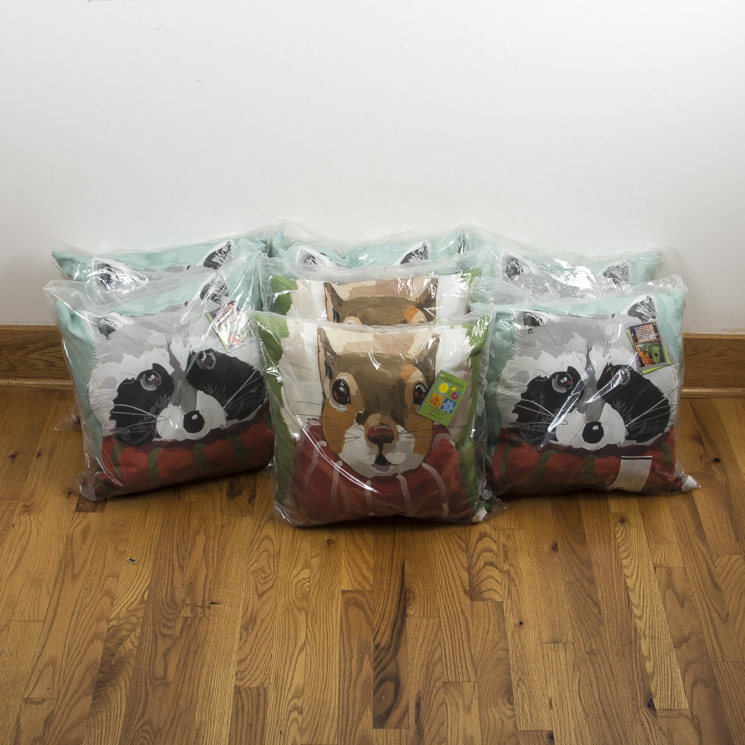 Set of Six Climaweave Outdoor Animal Pillows