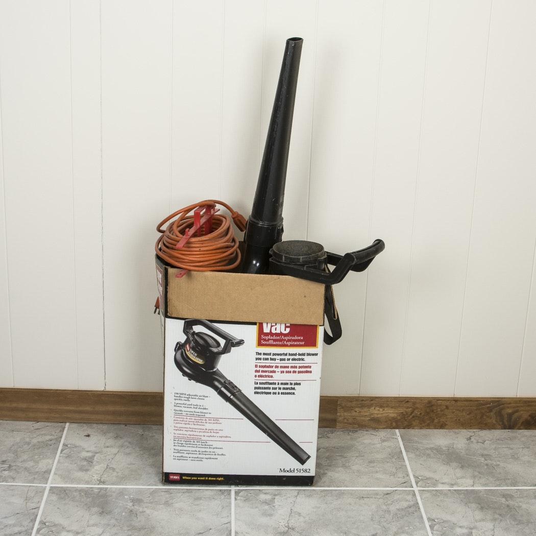 Toro Super BlowerVAC Leaf Blower, Vacuum, and Shredder