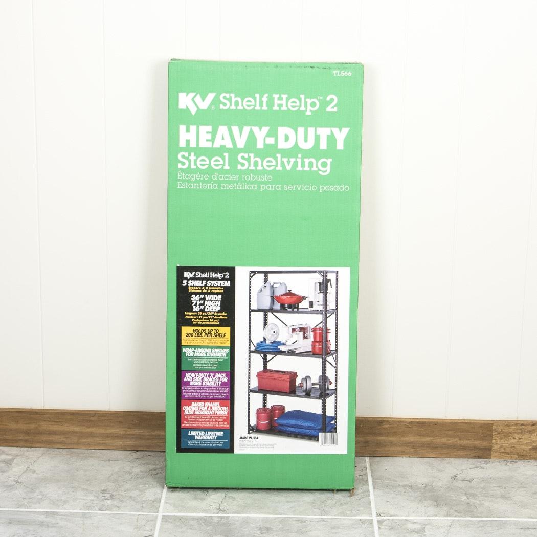 KV Shelf Help 2 Heavy-Duty Steel Shelving