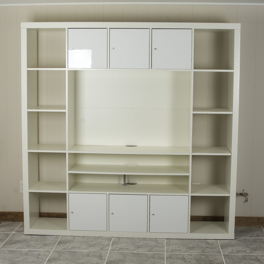 Large Media and Storage Cabinet with Cubes